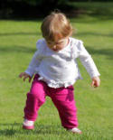 Image of toddler walking